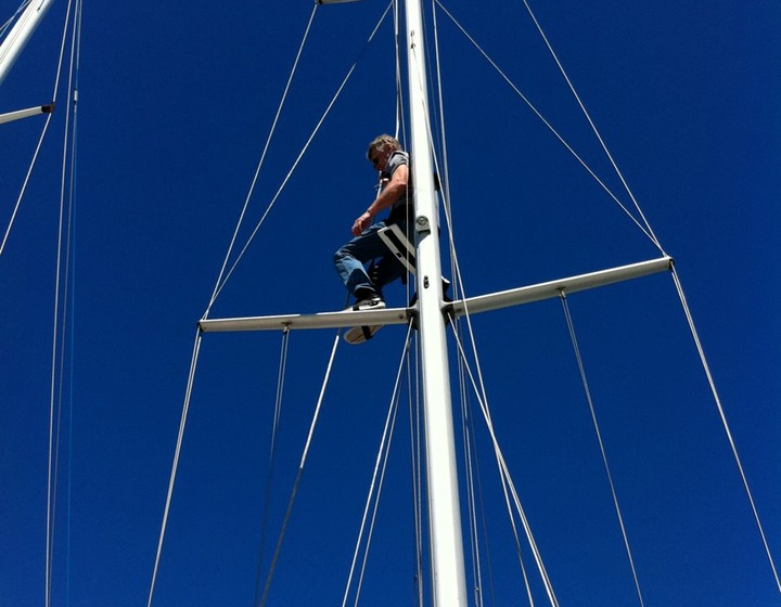 Getting Ready - Up the Mast